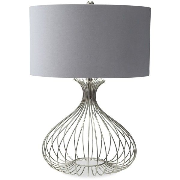 Nickel wire table lamp 100 liked on polyvore featuring home nickel wire table lamp 100 liked on polyvore featuring home lighting keyboard keysfo Image collections