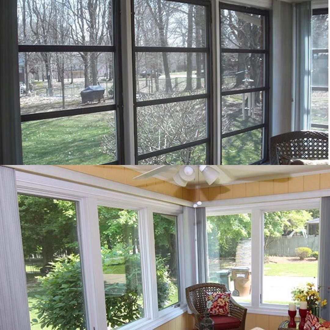 Sunroom transformation. Perfect space to enjoy the