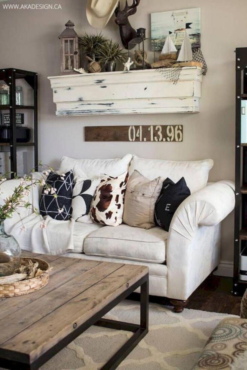 45 romantic rustic farmhouse living room decor ideas living room rh pinterest com