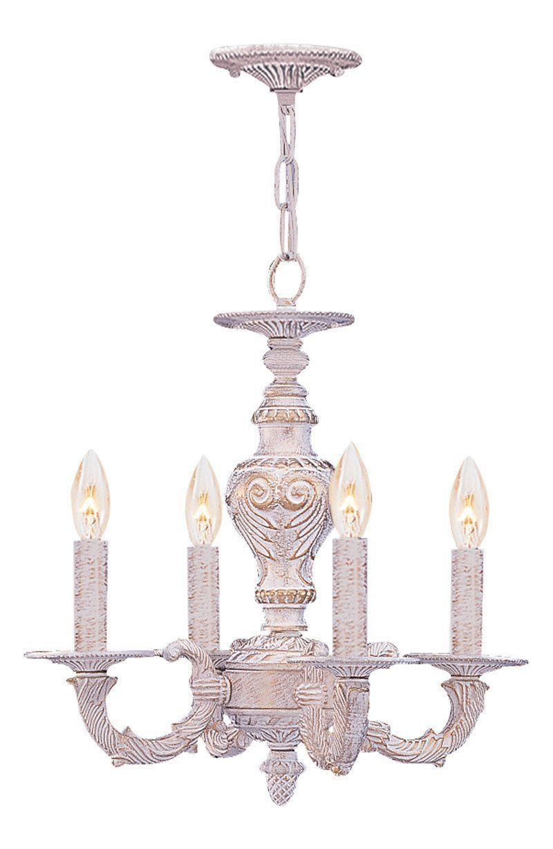 Crystorama Sutton Collection Wrought Iron Convertible Mini Chandelier
