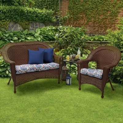 clark wicker settee cushion arden selections in 2019 products rh pinterest com
