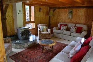 Chalet Papillon upper lounge seats eight comfortably. Near Morzine in the Portes du Soleil ski region
