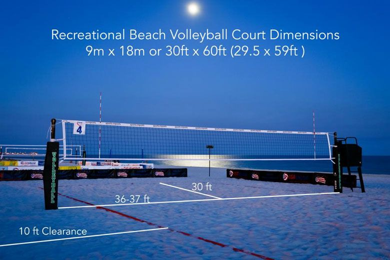 Beach Volleyball Court Dimensions | Beach volleyball court ...