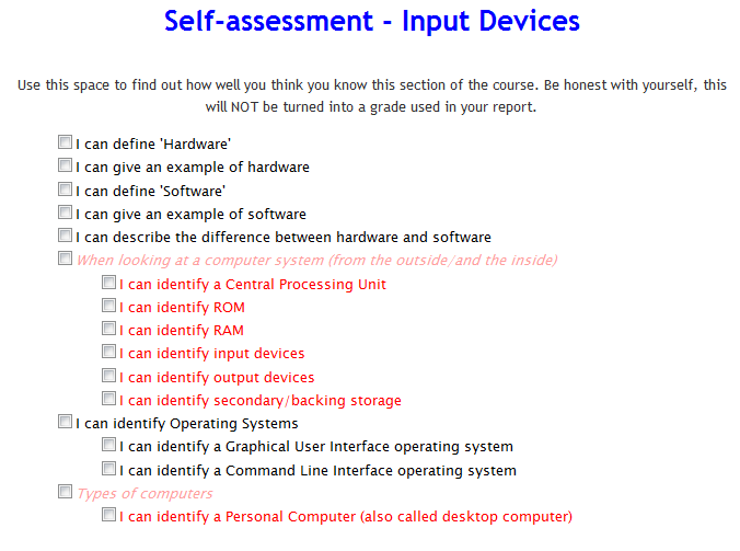Self Assessment Example  Google Search  Comodn