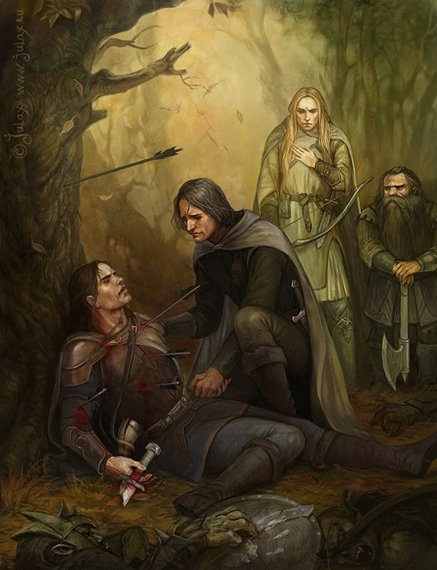 Image result for boromir falls to shadow