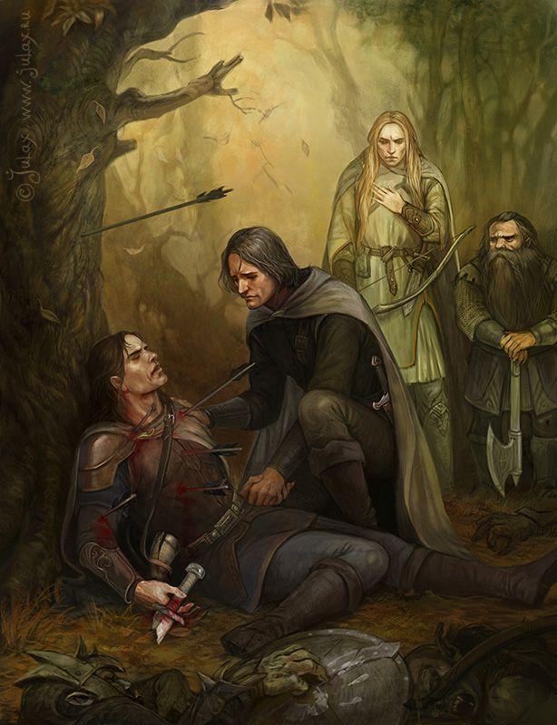 Smert Boromira Ot Cg Warrior Tolkien Tolkien Art Middle Earth Art