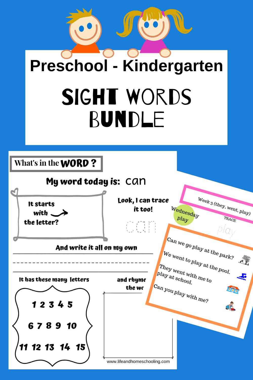 Kindergarten Sight Words Activity Worksheet Bundle Sight Words Kindergarten Activities Sight Words Kindergarten Word Activities [ 1500 x 1000 Pixel ]