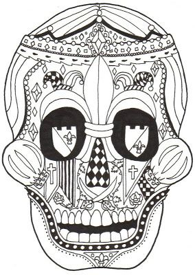 Kay Larch Studios: Dia de los Muertos COLORING BOOKS | skulls ...