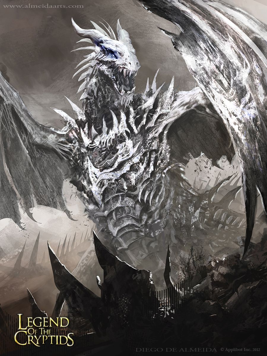 Artist: Diego de Almeida - Title: blue eyes white dragon - Card: White Drake of Evil Bane