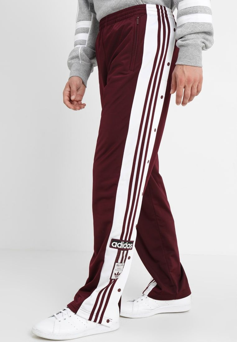 Pigmento Aplicando Goteo  adidas Originals ADIBREAK - Tracksuit bottoms - maroon - Zalando.co.uk |  Zalando