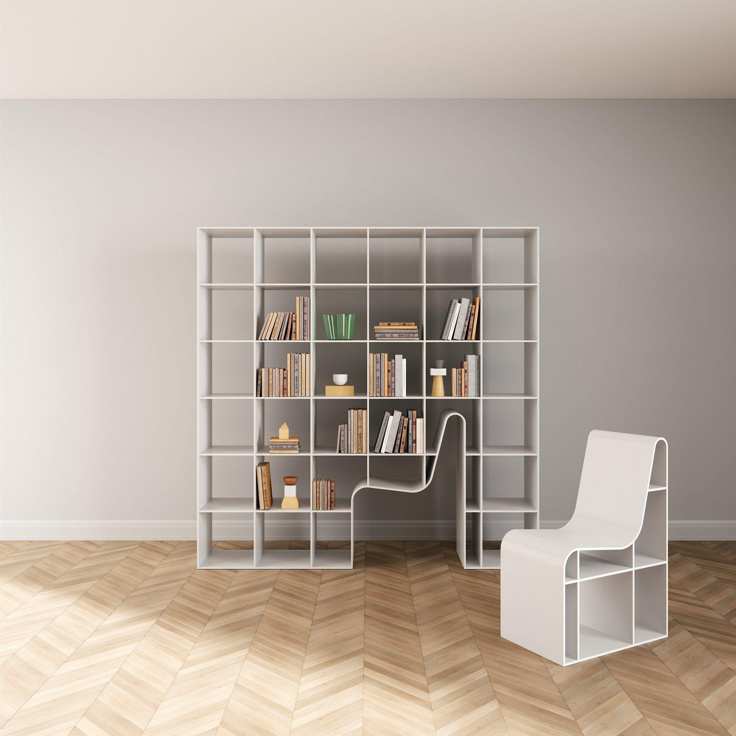 Sou Fujimoto designs hybrid bookshelf and chair