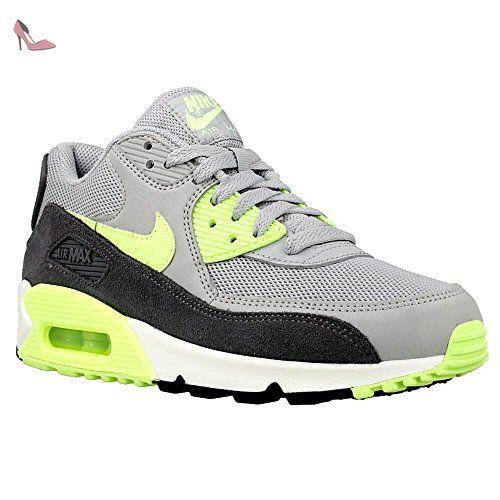 Nike - Wmns Air Max 90 Essentia - Couleur: Gris-Noir-Vert clair ...