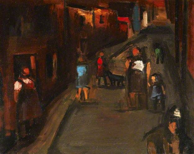 Josef Herman   1911-2000  Street Scene, Ystradgynlais