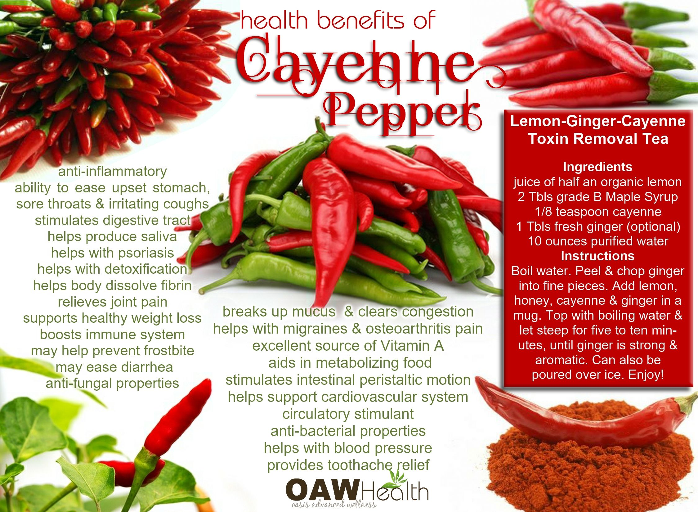 Cayenne Pepper Tea Benefits and Recipe