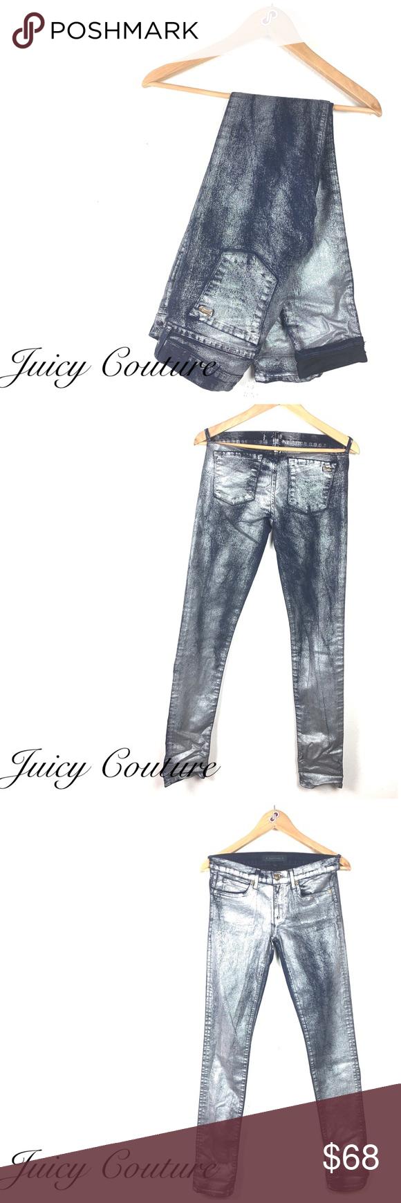 e9819fa3 Juicy Couture Silver Metallic Skinny Jeans Size 27 Juicy Couture Silver  Metallic Skinny Jeans Size 27
