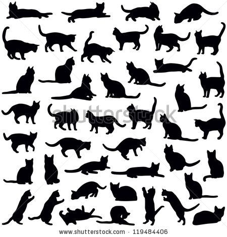 Cats collection - vector silhouette by Hein Nouwens, via ...