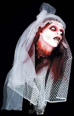 Bloody Gory Severed Vampire Brides Head Halloween Prop Pkg/1 ...