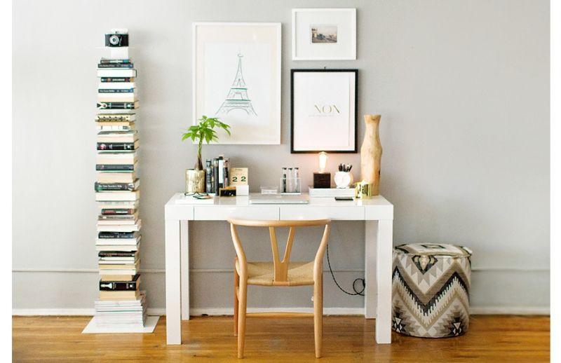 3 ways to style the west elm parson s desk decoracion pinterest rh pinterest com