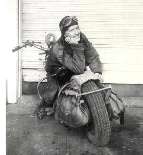 .One of my fav. motorcycle girls!
