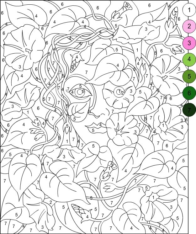 Nicole\'s Free Coloring Pages: COLOR BY NUMBER! | Dibujos | Pinterest ...