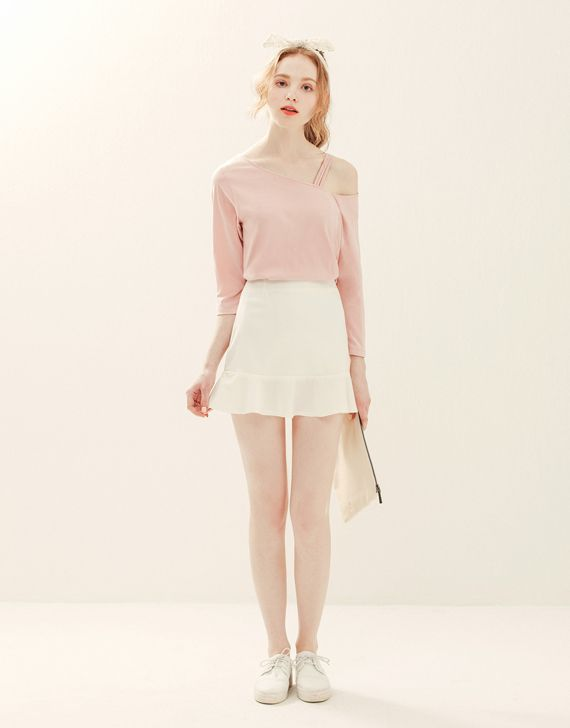 LOVFEE - 甜美女孩魚尾短裙