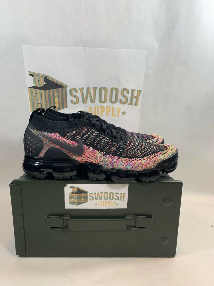 a9202071a2ee8f NIKE AIR VAPORMAX FLYKNIT 2 BLACK MULTI-COLOR 942842-017 SIZE 9.5 RARE NIB   Nike  AthleticSneakers