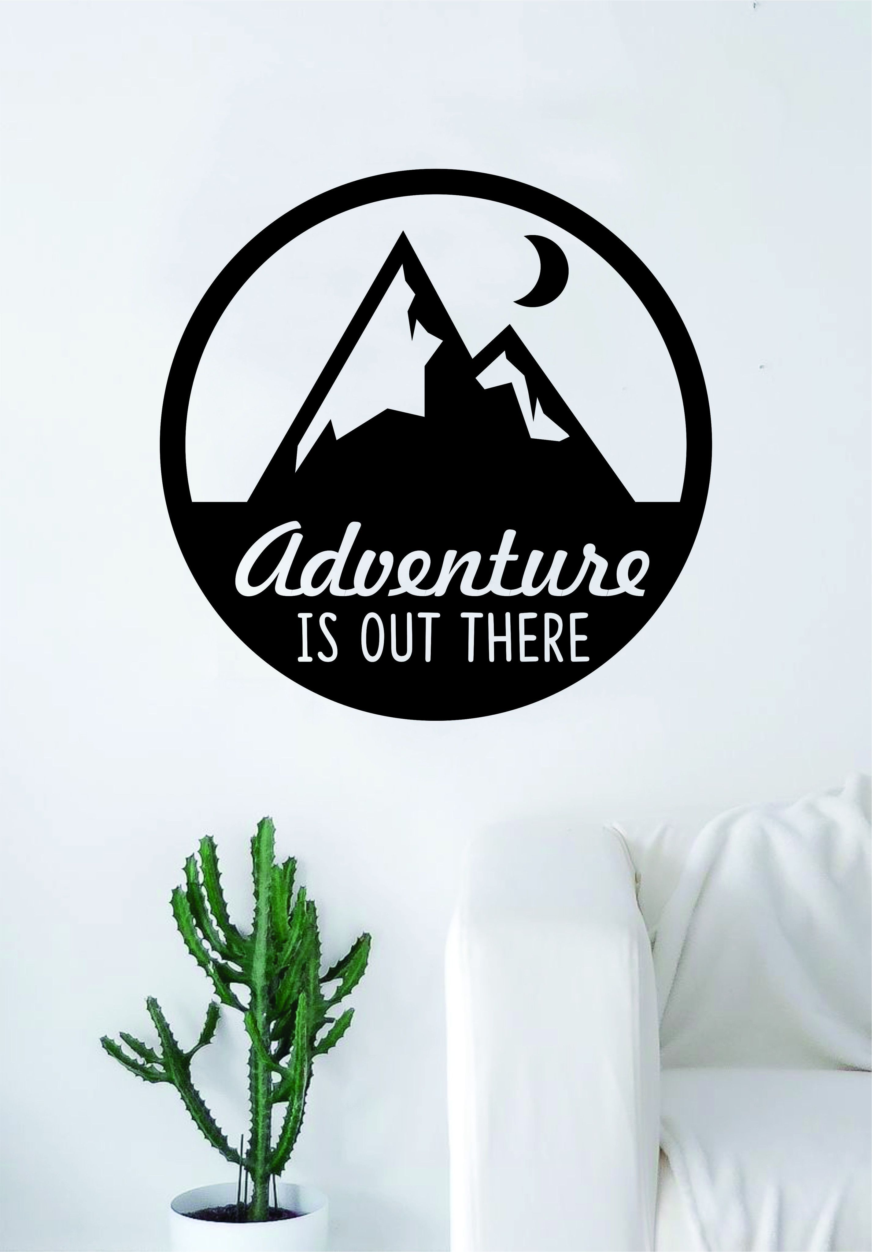 Photo of Adventure is Out There Quote Wall Decal Sticker Bedroom Living Room Art Vinyl Beautiful Inspirational Moon Travel Mountains Wanderlust – orange