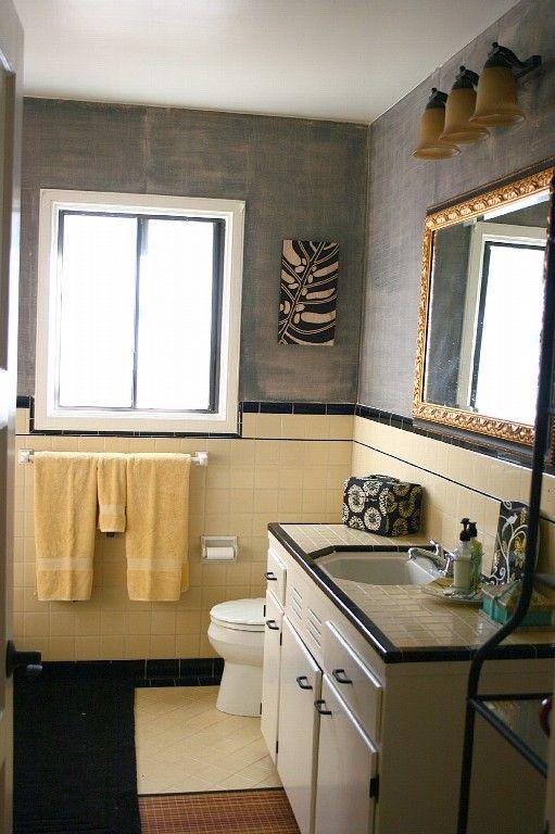 1940 s tile in both bathrooms my pretend home pinterest yellow rh pinterest com