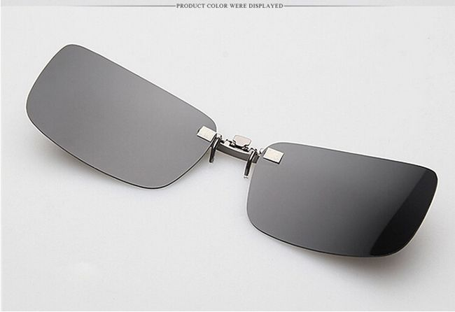 Polarized Clip On Sunglasses Sun Glasses Driving Night Vision Lens ...