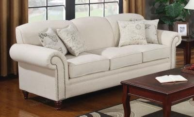 norah antique inspired linen sofa with nail head trim by coaster by rh pinterest ch