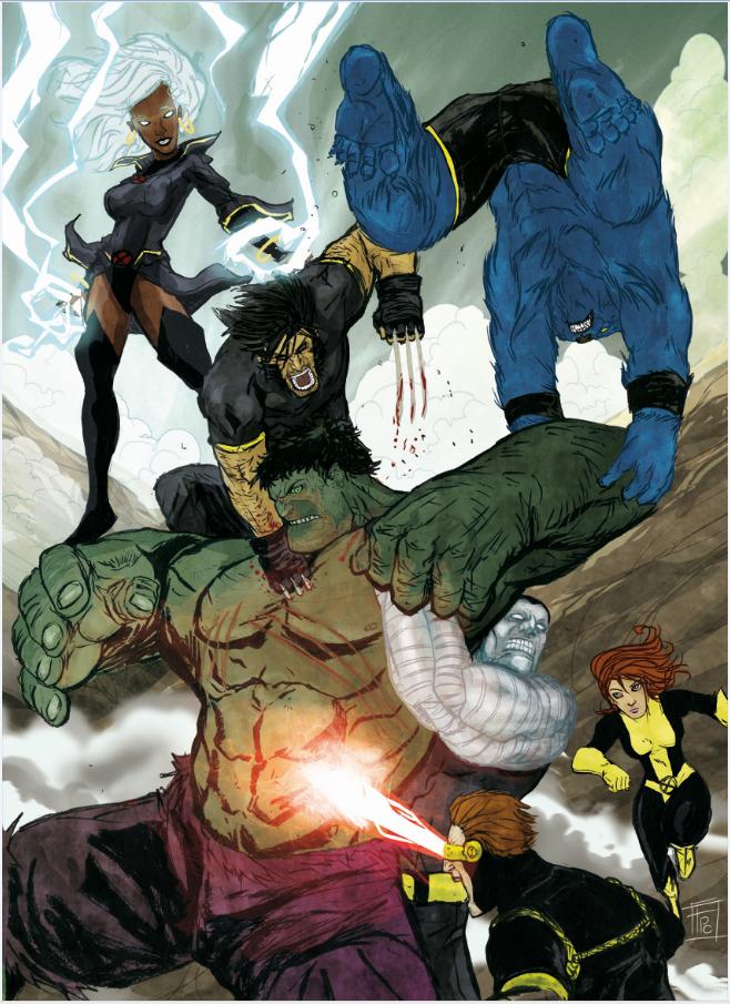 The Hulk Vs X Men Frederic Pham Chuong Marvel Comics Art Hulk Marvel Hulk Art