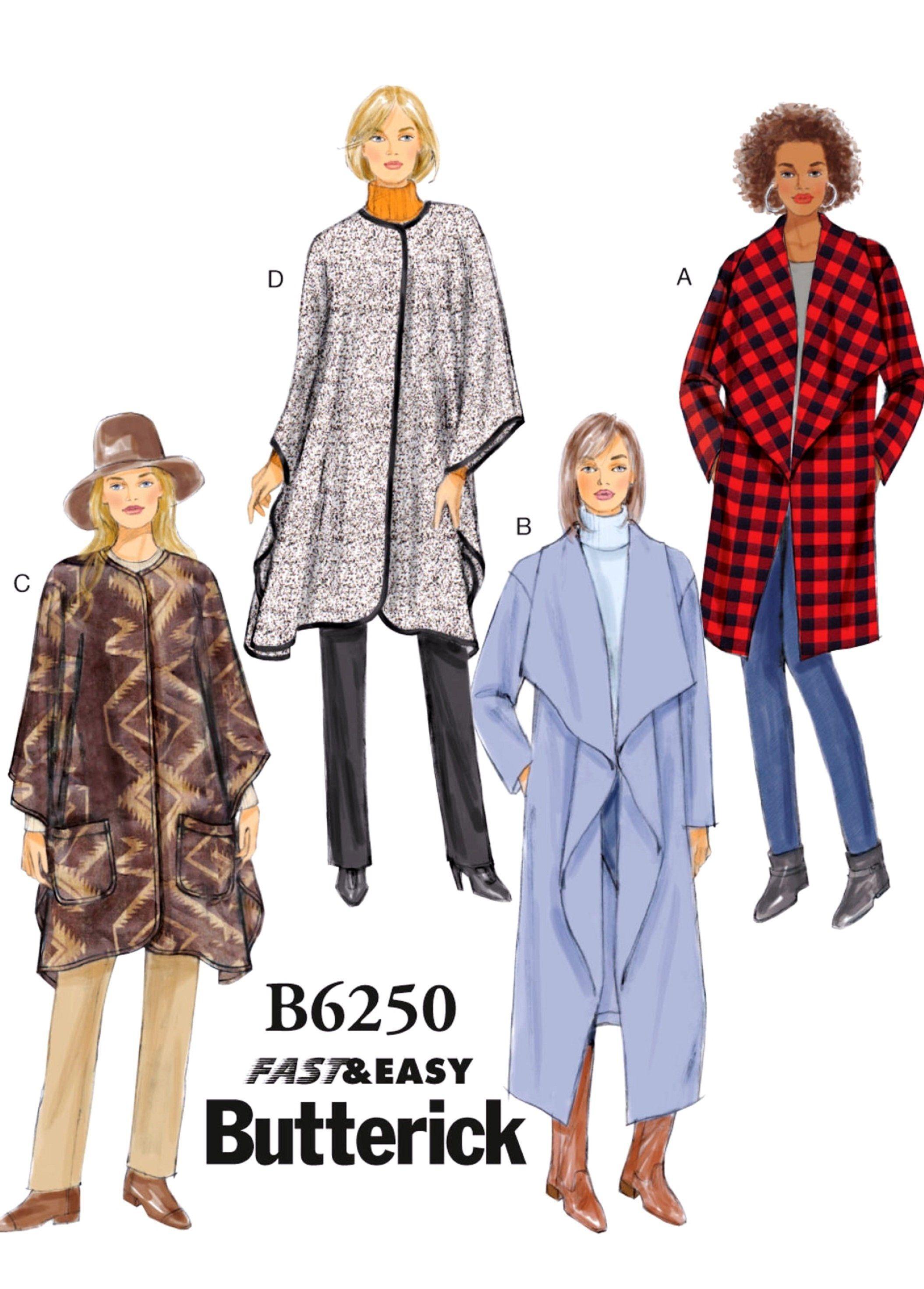 Easy Unlined Coat Pattern, Easy Unlined Jacket Pattern, Easy Loose ...