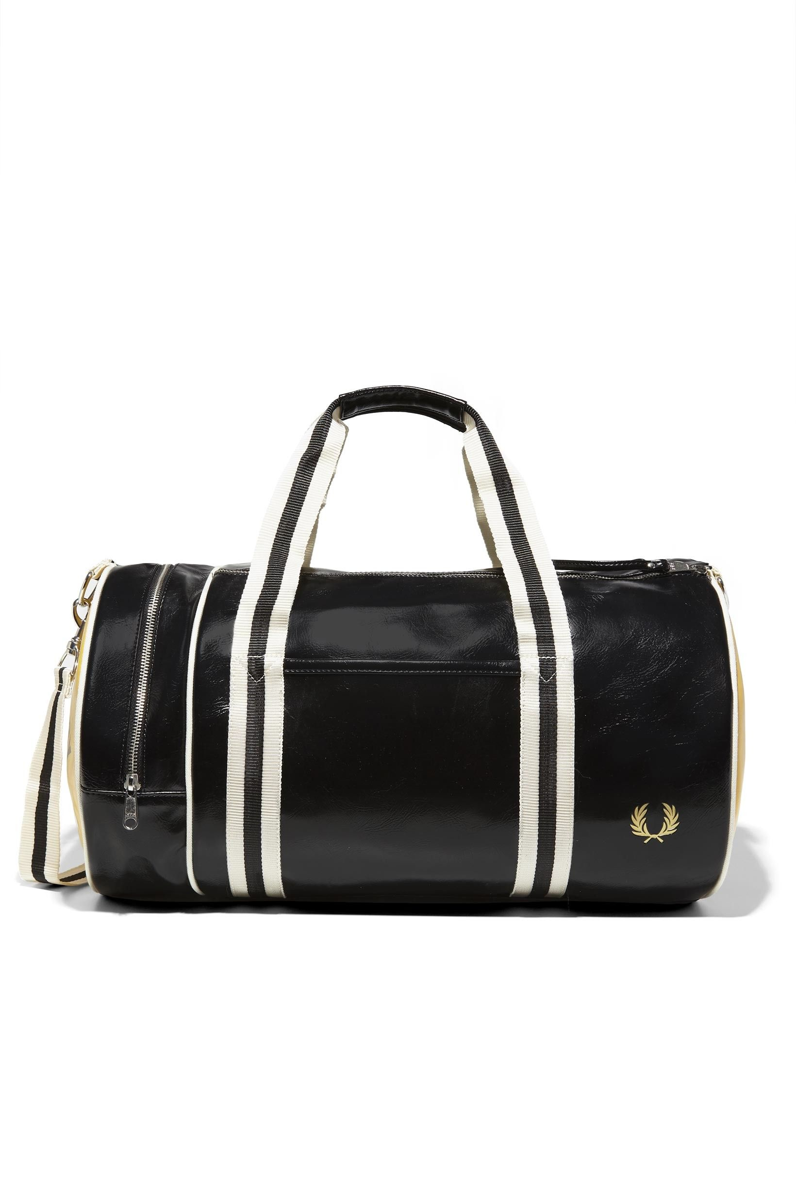 12bd2b14d83c Fred Perry - Classic Barrel Bag Black   Yellow