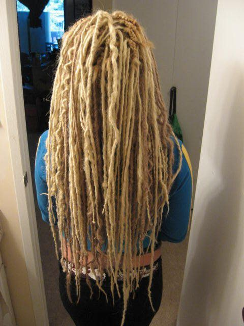 Extra Long Blonde De Synth Dreads With Some Wave
