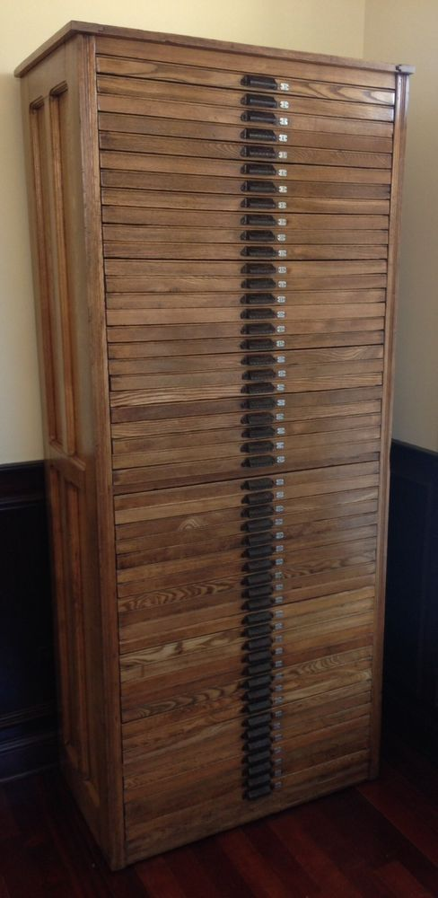 Hamilton Cabinet Letterpress Printers Wood Two Rivers Wisconsin 50 ...