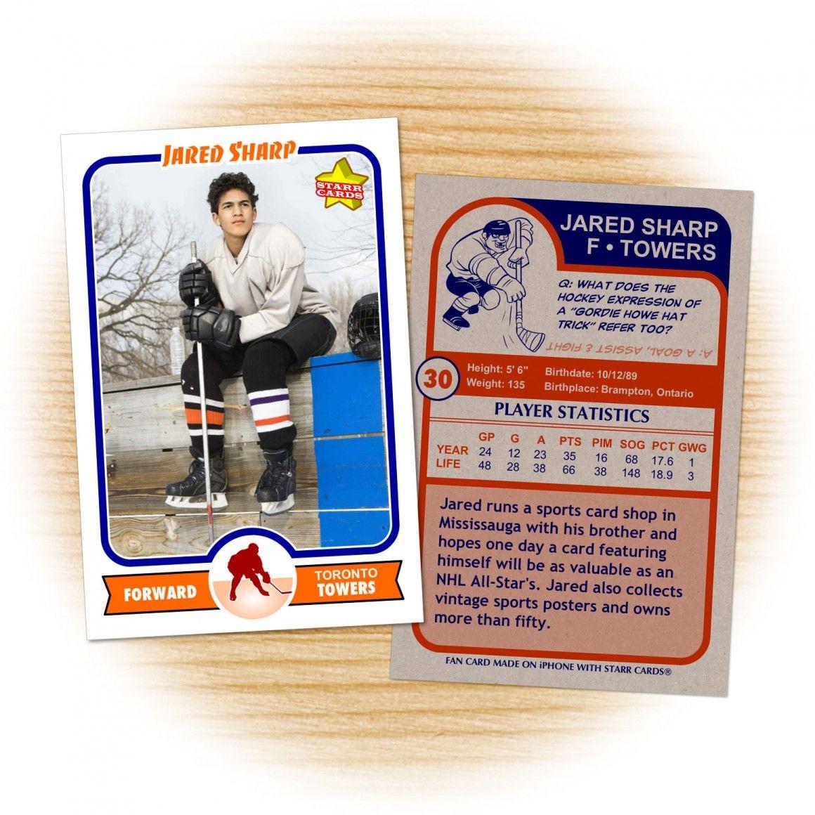 Custom Hockey Cards Retro 75 Starr Cards Hockey Cards Healthy Dog Treat Recipes Dog Treat Recipes