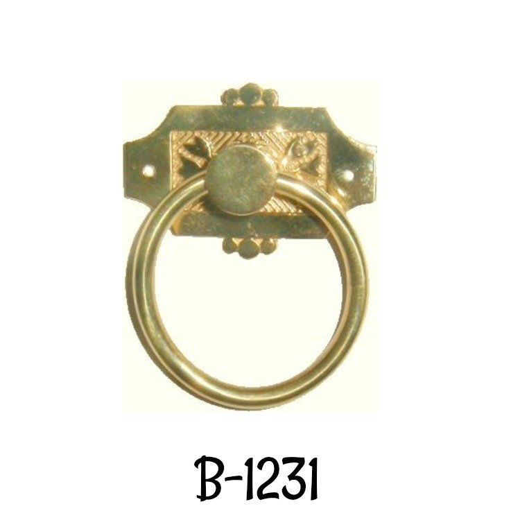 M-1841 HALF MORTISE STEEL DRAWER OR R.H.DOOR LOCK W// BRASS MOUNTING PLATE