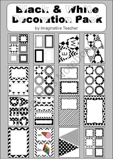 decoration pack black and white theme product from imaginative rh pinterest com