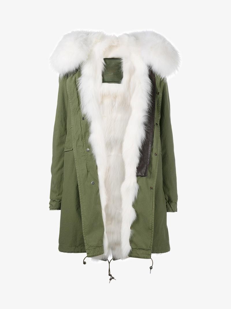 Mr u mrs italy fox and raccoon fur lined parka mrmrsitaly cloth
