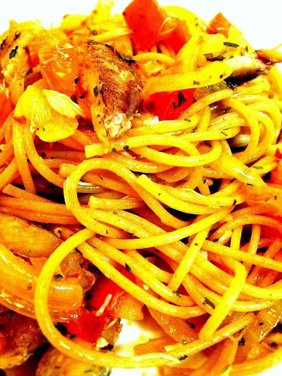spicy crab spaghettini - Recipe