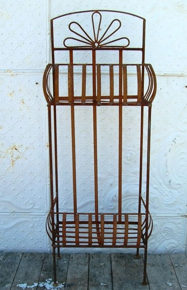 wrought iron 2 tiered plant stand pot holder planter stands in rh pinterest com