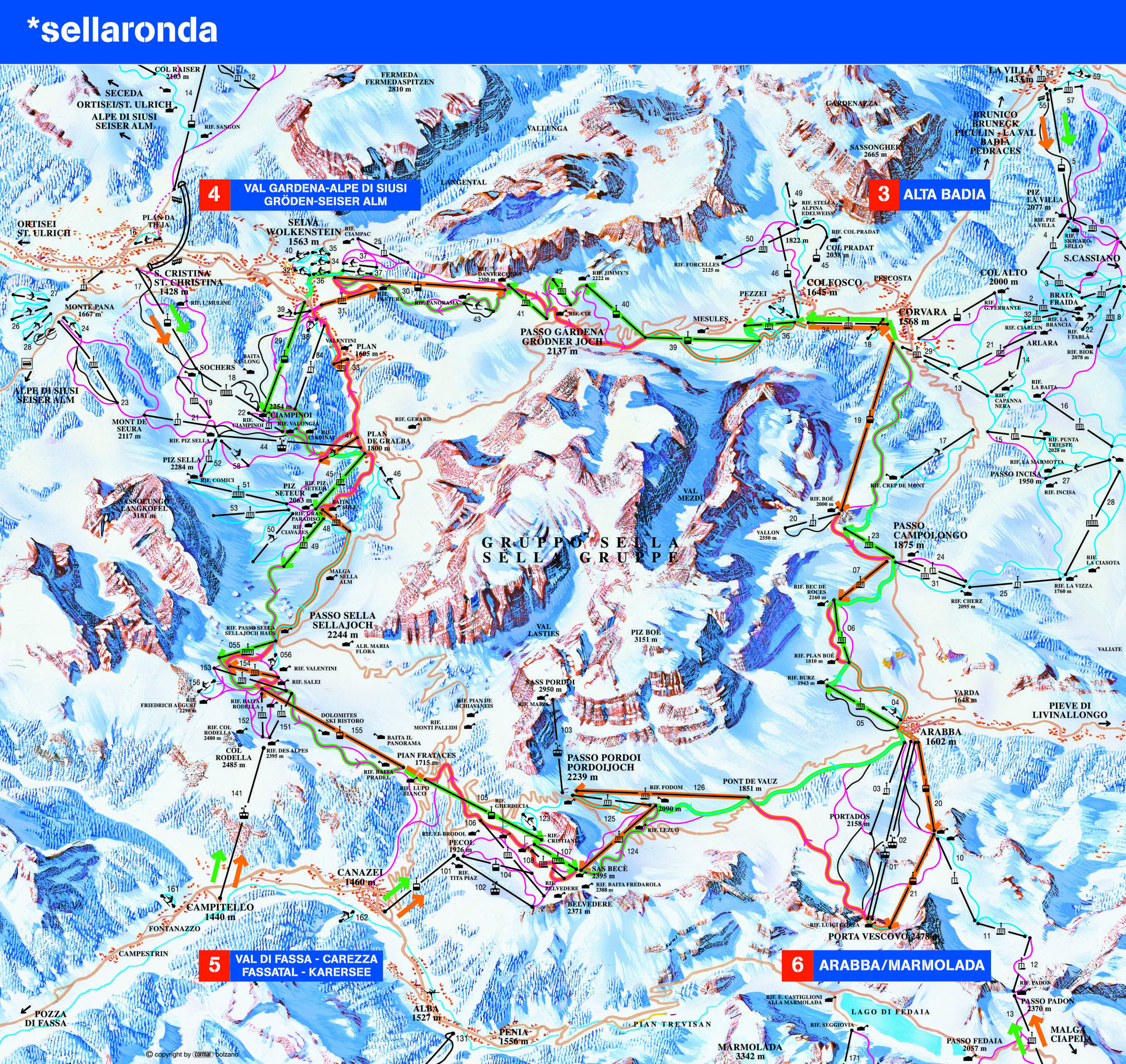 Full Size Piste Map For Canazei pinteres proda Pinterest Resorts