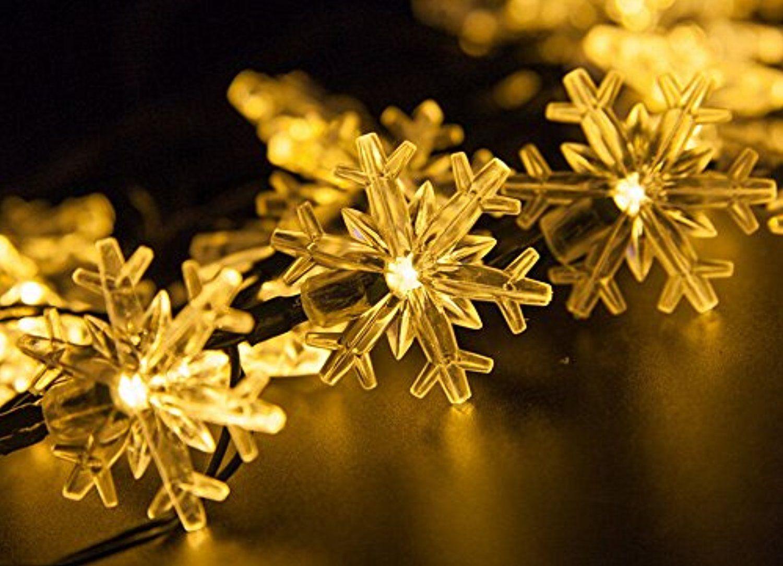 VANJING Rotating Snowflake Star Spotlight Wall Decoration Lights ...