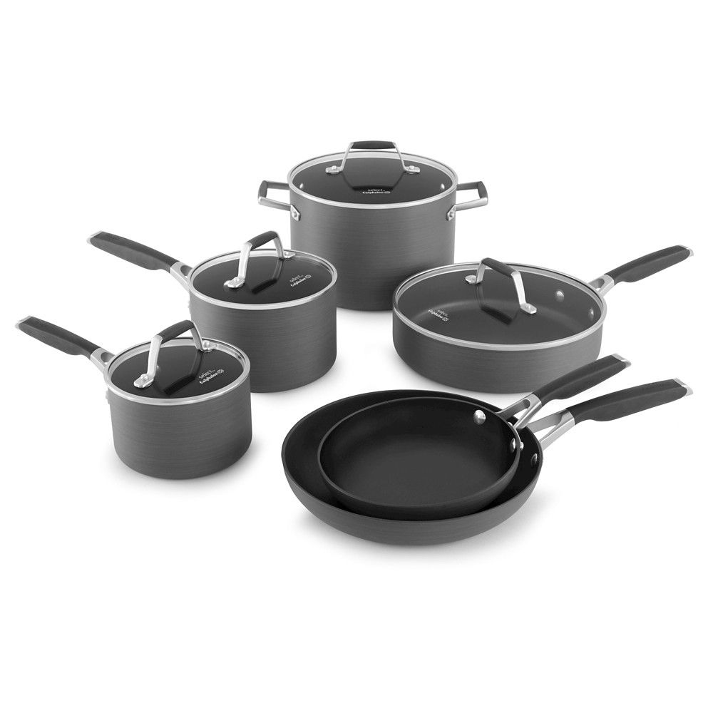 select by calphalon 10 piece hard anodized non stick cookware set rh pinterest com
