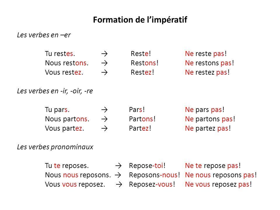 L Imperatif Cours De Francais Imperatif Apprendre Le Francais