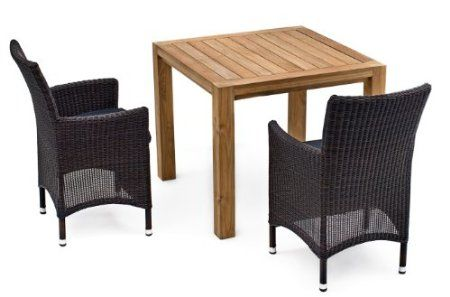 879 amazon com 3 pc landmann astena real wood patio furniture set rh pinterest com