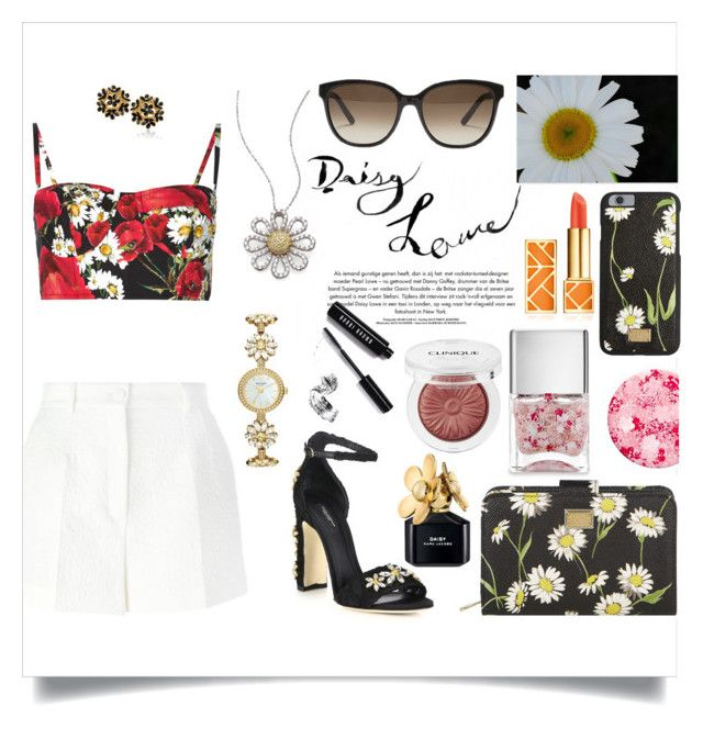 """""""Daisies"""" by kiki11301 ❤ liked on Polyvore featuring Dolce&Gabbana, Kate Spade, Roberto Coin, Chloé, Nails Inc., Clinique, Tory Burch, Marc Jacobs, Bobbi Brown Cosmetics and floral"""