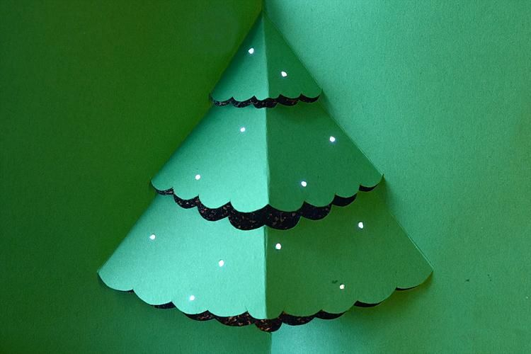 A paper circuit Christmas tree Paper Circuits High