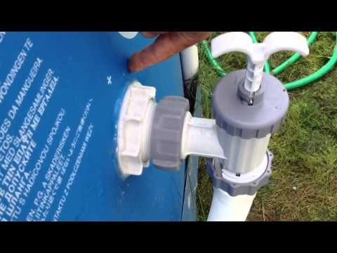 Intex Pool Modifications Above Ground Pool Pump And Filter On An