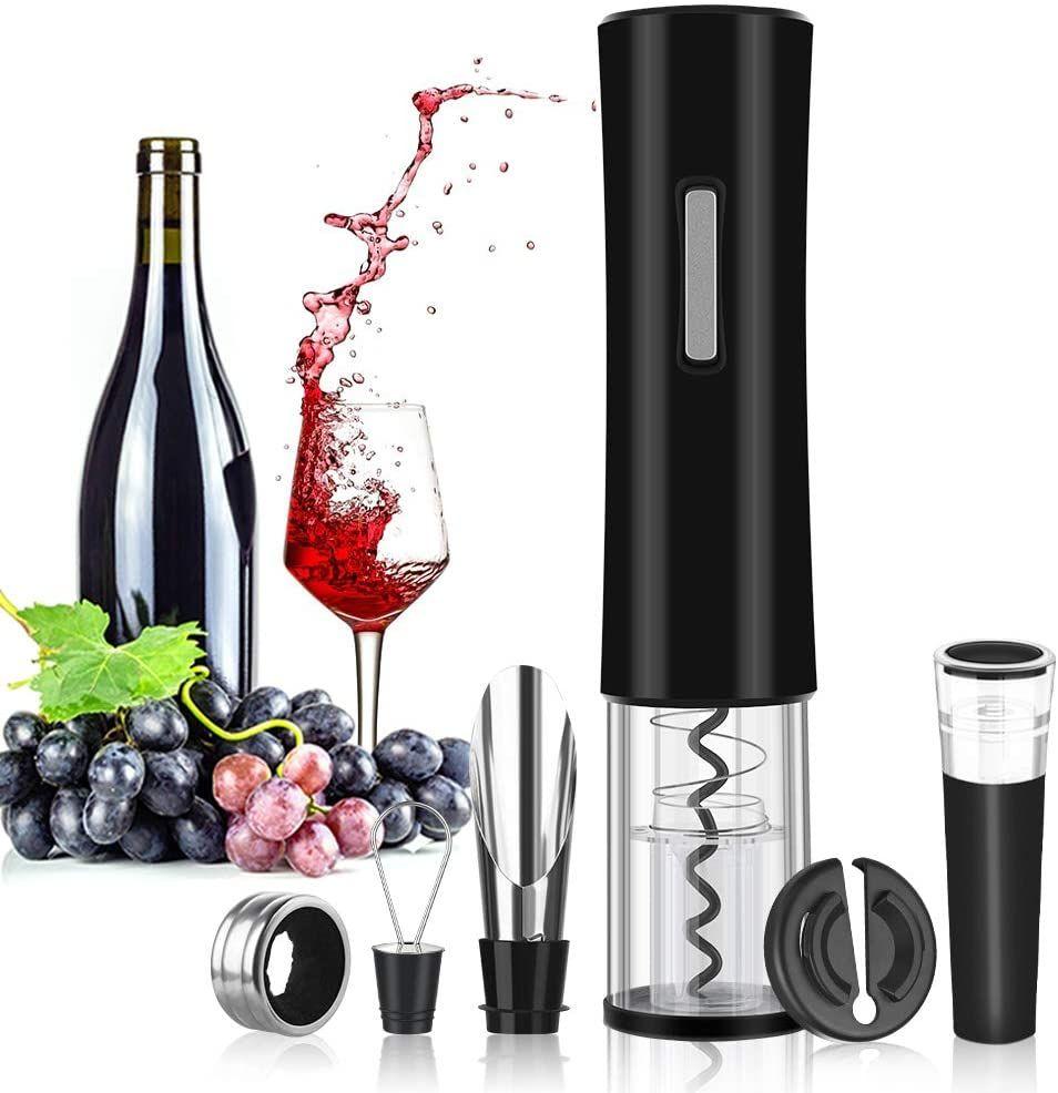 Rovtop Elektrischer Korkenzieher Automatischer Weinflaschenöffner Aus Edelstahl Mit Folienschneider Wein Stöps Weinflaschenöffner Korkenzieher Folienschneider